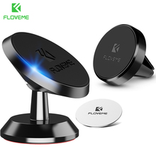 FLOVEME Magnetic Car Phone Holder For iPhone 8 7 GPS Magnet Air Vent Dash Board Movil magnet car dash Stand Soporte