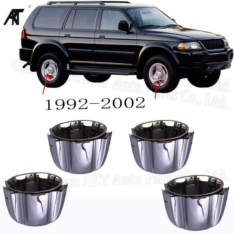 4 крышки ступицы колеса для Mitsubishi Montero Sport Pajero w/удерживающие кольца MB816581 1992-2002