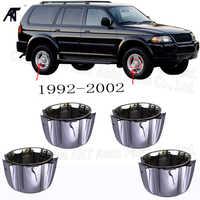 4 enjoliveurs de moyeu central pour Mitsubishi Montero Sport Pajero avec anneaux de rétention MB816581 1992-2002
