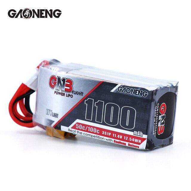 2 шт. Gaoneng 11,4 в 1100 мАч 50C 3S HV 50C/100C 4,35 в литий полимерная батарея XT30 T XT60 разъем для радиоуправляемого FPV гоночного дрона