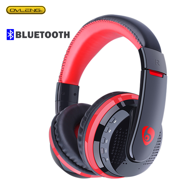 MX666 Wireless Bluetooth 5 0 Stereo Gaming headphones OVleng Built-in Microphone Support FM Card 3 5mm Cable Headset for PC ipad