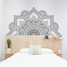 Half Mandala Sacred Geometry Yoga Wall Sticker Vinyl Home Decor Living Room Bedroom Sofa Headboard Decals Removable Mural 4128