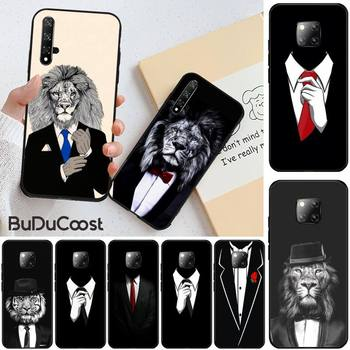 Cool black Man suit White Shirt Tie Phone Case for huawei honor 10i 8x 8 9 10 lite view 10 20 image