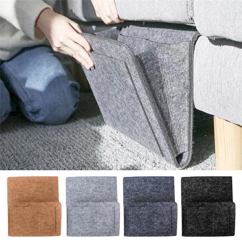 Bed Storage Bag Pocket Felt Bedside Hanging Storage Organizer Dorm Room Book Magazine TV Remote Caddy Bunk Holder For Table Sofa