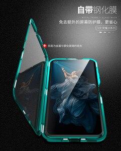 Image 5 - Für Huawei P30 Pro Magnetische Fall 360 doppelseitige Gehärtetem Glas Fall Honor 20 Pro V20 8X Max V10 10 Lite 9X Plus Nova 5 4 4E 3