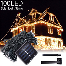 8 Modes Solar String Lights Outdoor Lighting Waterproof Christmas Fairy Light for Xmas Garden Homes Ambiance Wedding Party Decor dcoo solar led string light 100 light 8 modes fairy lighting garden party christmas holiday outdoor lighting wedding decoration