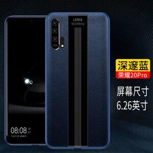 Image 2 - 高級ハンドメイド電話アクセサリーシェル Huawei 社の名誉 20 ケース本革カバー Huawei 社の名誉 20 プロソフト TPU バンパー