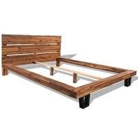 vidaXL Bed Frame Solid Acacia Wood 180x200 cm 6FT Super King