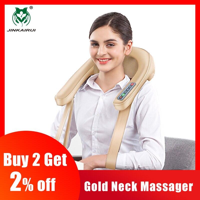 JinKaiRui szyi masażer ugniatający wielofunkcyjny ogrzewanie 4D masaż podwójny U specjalna konstrukcja z certyfikatów prezent dla rodziny w Zabiegi relaksacyjne od Uroda i zdrowie na  Grupa 1