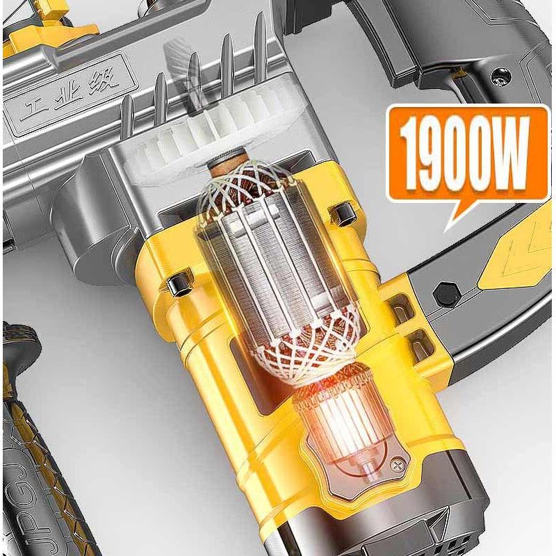 Hf1e7c67ae0254e24987b51458114ce37R - An jieshun electric hammer electric pick dual-purpose multi-function household impact drill electric drill tool combination set
