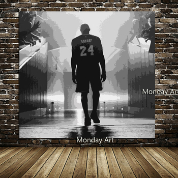 Hand Painted Forever Kobe Poster Canvas Painting Sport Basketball Legendary Superstar Fans Art Room Decor Wall Sticker Boy Gift