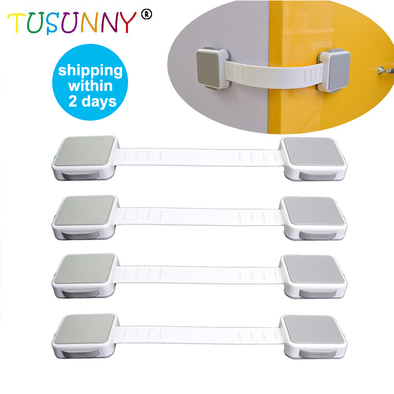 TUSUNNY 1PC/3PCS Baby Safety Protection Baby Safety Door Locks Cabinet Locks Multi Use Latch Child Safety Lock
