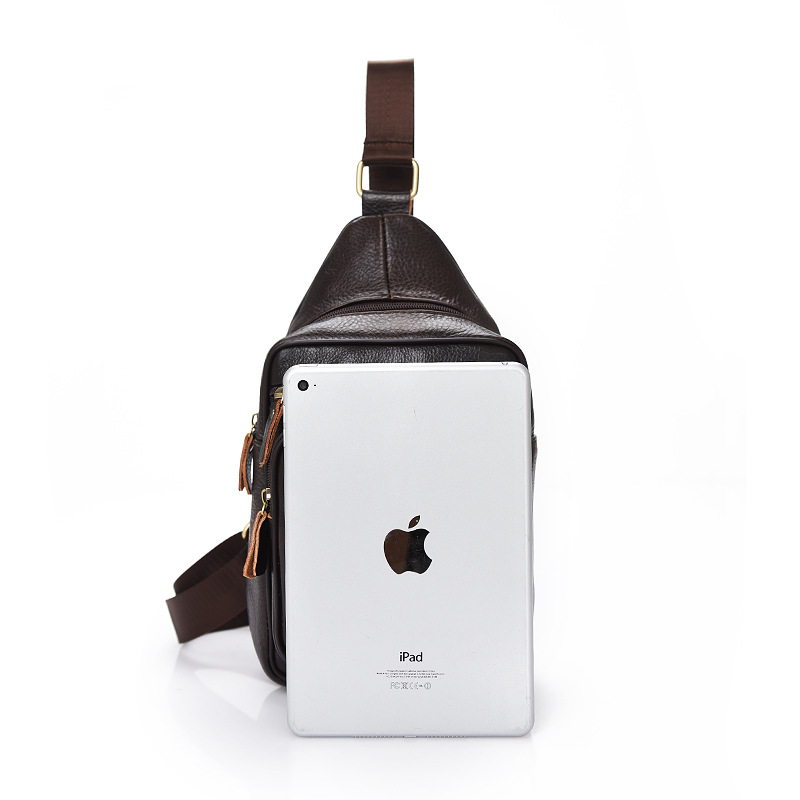 Genuine Leather Men Chest Pack 2019 New Style Korean-style Versatile Cowhide Backpack Fashion Fan Children Shoulder Bag