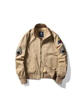 Short Pilot Jacket Men Military American Mens Bomber Jackets Chaqueta Hombre Casual Hunting Clothes Japanese Streetwear HH30JK