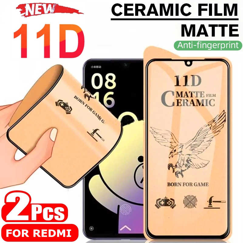 ماتي لينة السيراميك الزجاج المقسى ل شاومي Redmi نوت 10 9 A 8 T 7 9S برو ماكس K20 K30 Mi A2 Poco X3 NFC F2Pro حامي الشاشة