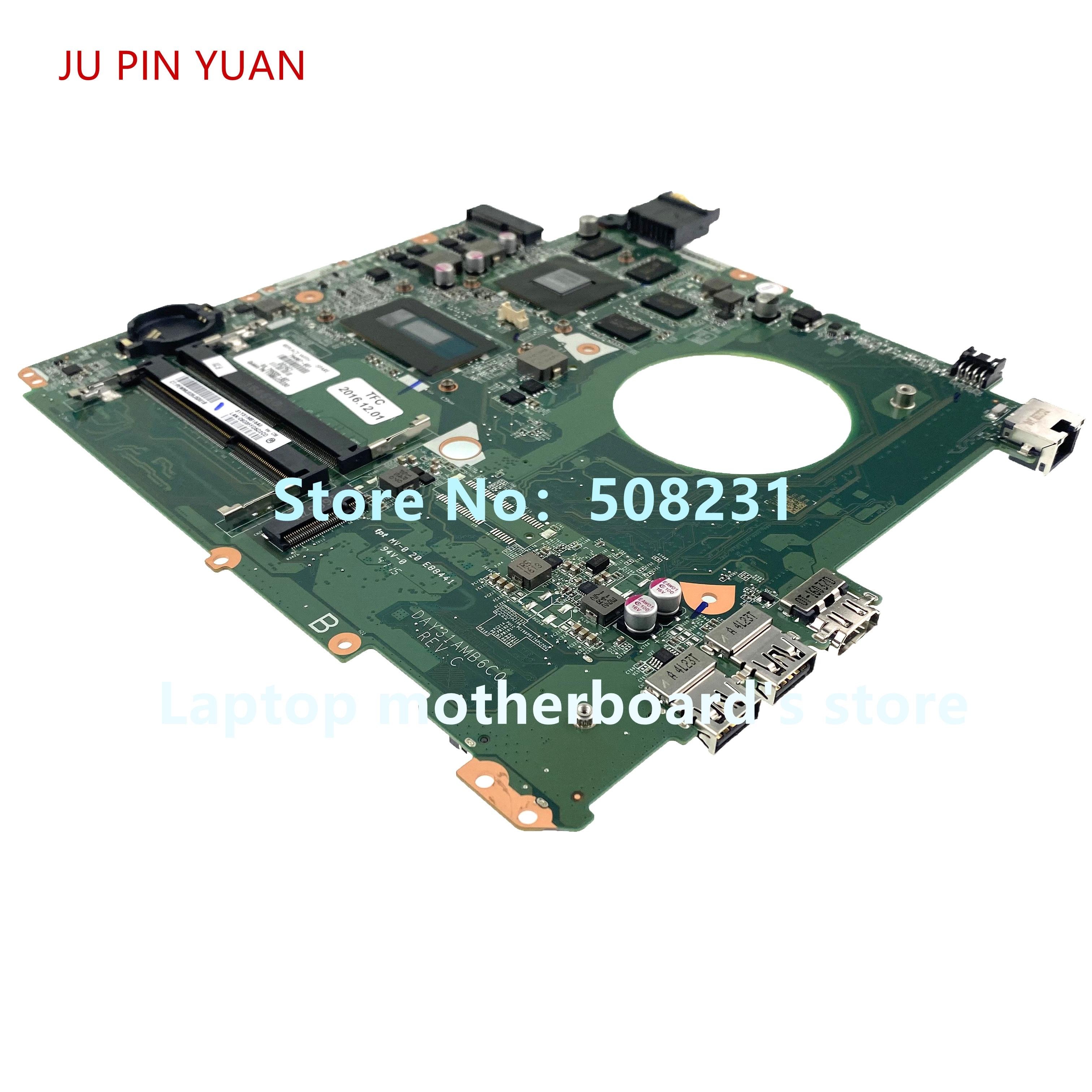 JU PIN YUAN 794987-001 794987-501 794987-601 DAY31AMB6C0 For HP Envy 15-K 15T-K Laptop Motherboard With 850M/4GB I7-5500U