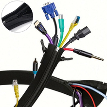 Cords Organizer Wrap-Cover Cable-Sleeve Hider-Protector Wire Flexible Computer/home