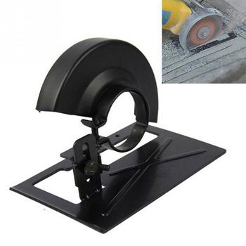 Cutting Machine Base Protection Cover Metal Wheel Guard Angle Grinder Safety Protector Cover Simple Bracket Conversion Base black cutting machine base metal wheel guard safety protector cover for 125 angle grinder power tool accessories new