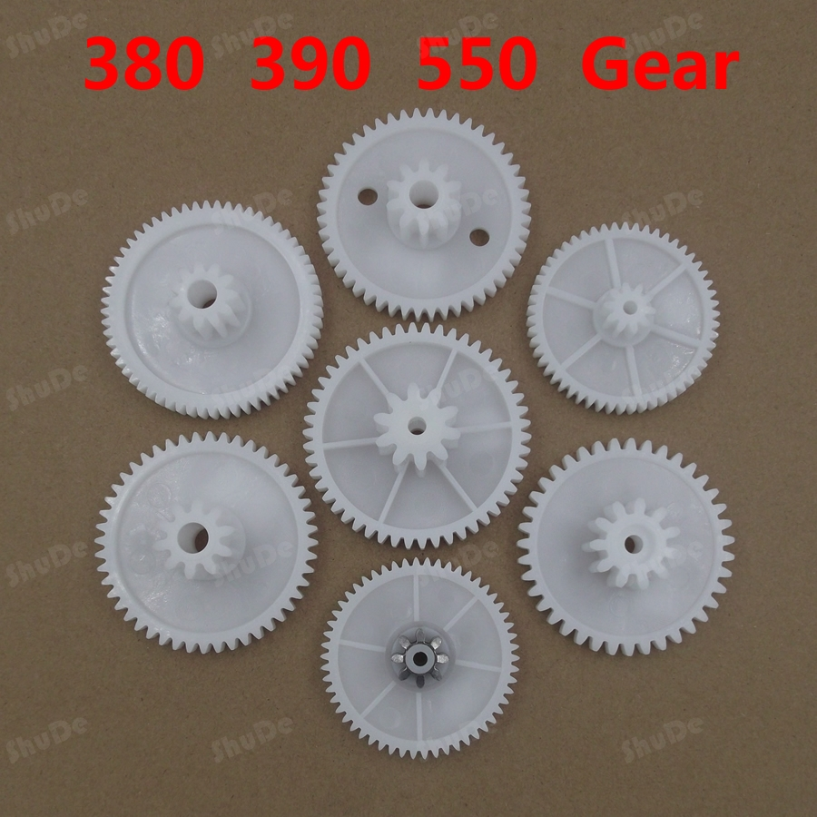 RS380 RS550 motor  gear box plastic gear for electric motor plastic gears for toys 2pcs