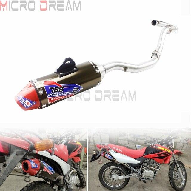 لهوندا CRF150F CRF230F 2003 2016 03 16 كاملة الخمار أنابيب العادم الترابية دراجة نارية CRF أنبوب العادم مجموعة كاملة