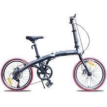 Ultra-light mini folding bike 20-inch front and rear disc brake road bike student bike folding bike  road bike foldable bicycles