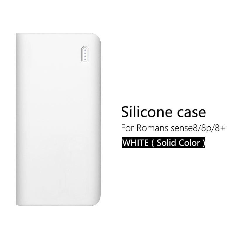 Силиконовый защитный чехол для 30000mAh Romoss sense 8/8+ мобильный мощный Мягкий Силиконовый противоударный/Противоскользящий Чехол для мобильного телефона - Цвет: White (no word)