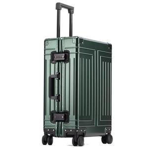 Image 4 - Nova qualidade superior 100% de alumínio magnésio bagagem viagem 20/24/28 polegada marca trolley mala spinner embarque rolando bagagem