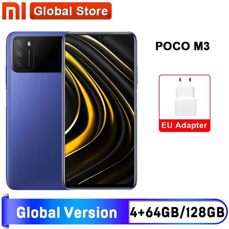 Глобальная версия смартфона POCO M3 4 ГБ 64 ГБ/4 ГБ 128 ГБ дисплей Snapdragon 662 6,53