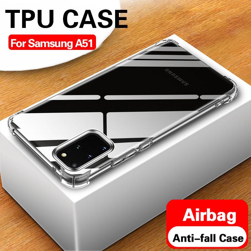 Airbag Case For Samsung A51 A71 TPU Soft Transparent Silicone Coque Back Cover For Samsung a 51 71 51a 71a a515f a715f cases