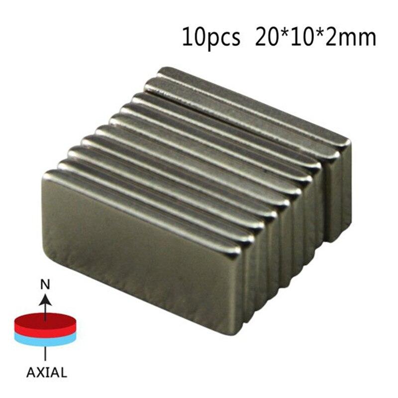 10 Pcs Big Super Rectangle Strong Large Ndfeb Magnetic Materials Neodymium N50 Magnet Block Wind