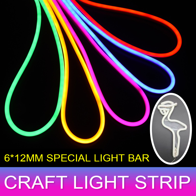 Colorful DC 12V SMD2835 Flexible LED Strip Waterproof Neon Lights Silicone Tube 1m-5m US Led Light Tape Flexible Lamp Diode