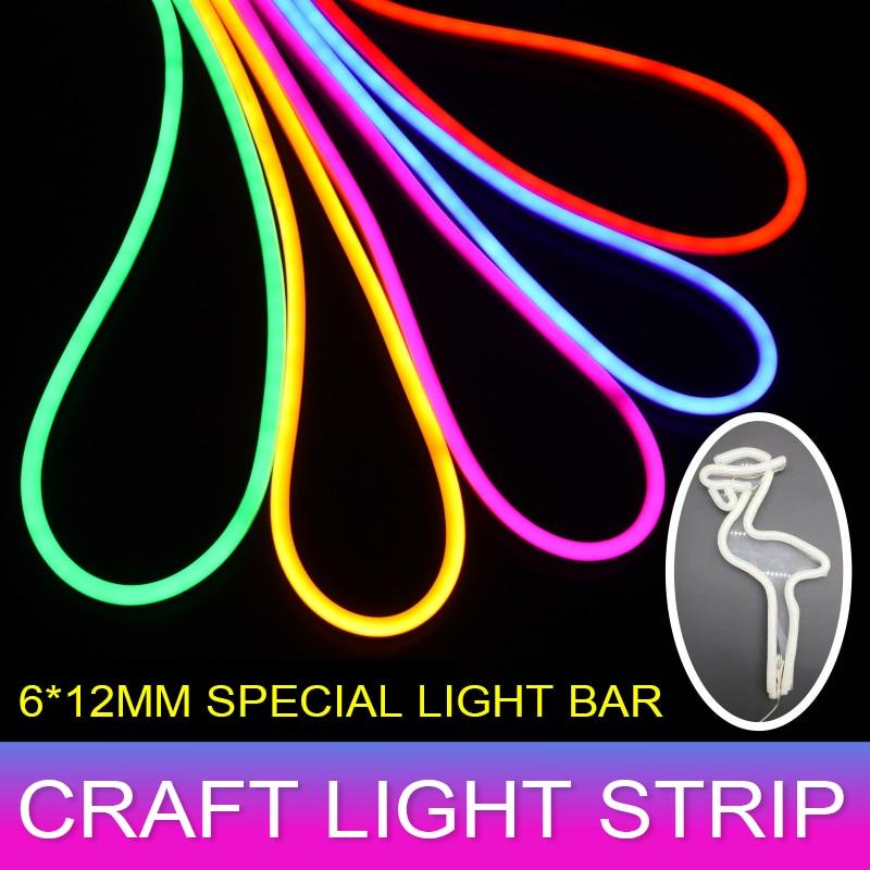 Цветная гибкая светодиодная лента SMD2835 12 В постоянного тока, водонепроницаемая неоновая лампа s, силиконовая трубка, 1 м-5 м, светодиодсветиль...