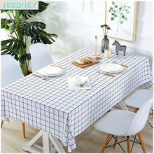 Plaid Tablecloth Cover Picnic-Mat Birthday-Party Disposable Plastic White Waterproof