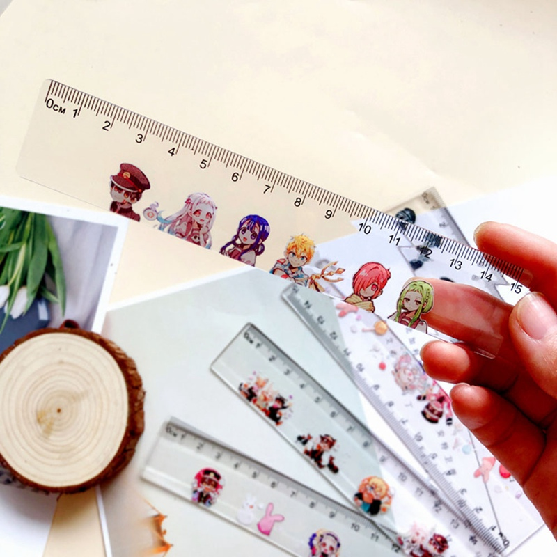 Anime Toilet-bound Hanako-kun  Cosplay Acrylic Ruler Measuring Scale Students Cartoon Measure Ruler Gift Office School Tools