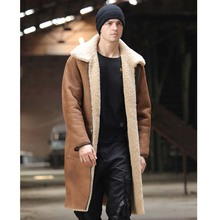 SANI Two Sides Wear Long Shearling Fur Real Sheepskin Men Winter Thick Warm Fur Coat Thicken Natural Sheepskin Fur Clothing