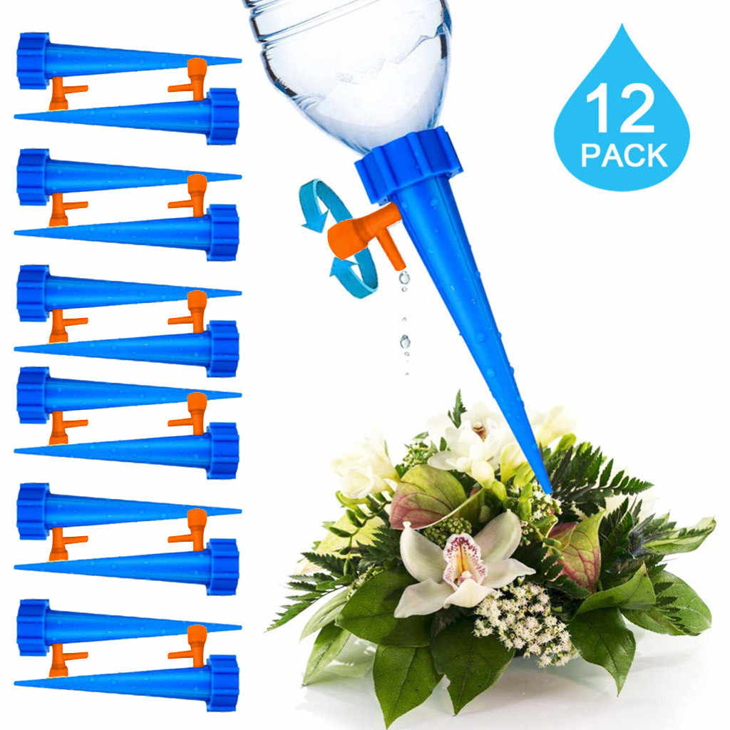 Garden 12PCs Plant Water Dispenser Automatic Watering Nail System Adjustable Water Flow Drip Irrigation Watering Equipment Kit