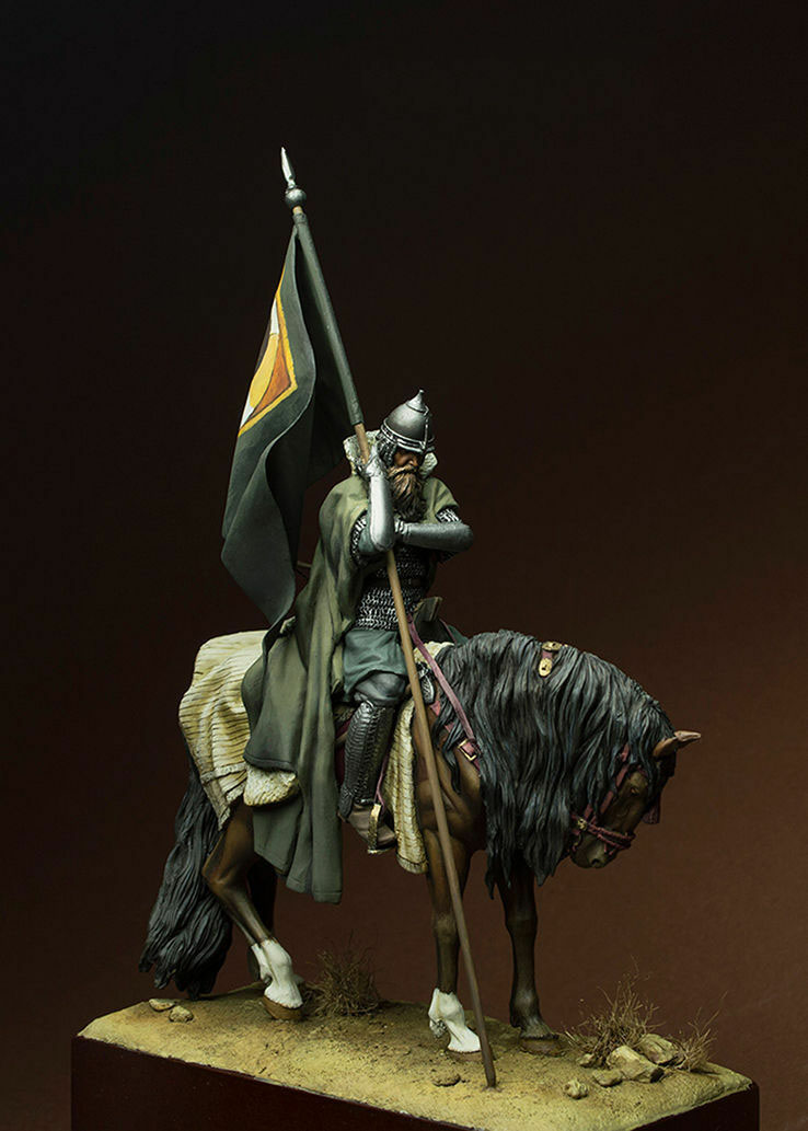 1/24 75mm ancient warrior sit with horse and base  Resin figure Model kits Miniature gk Unassembly Unpainted