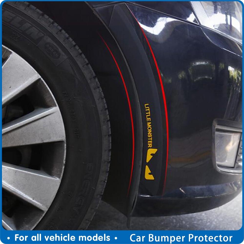 Automobile Bumper Protector Car Styling Anti Collision Fender Flares Edge Guard Rubber Sticker decorative strip Accessories