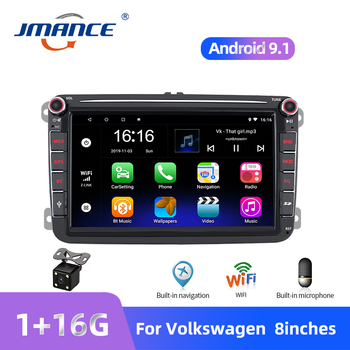 JMANCE 8'' Android Car MP5 Multimedia Video Player 2 Din GPS Car Radio Autoradio Stereo Audio For Seat/Skoda/Passat/Golf/Polo image