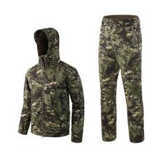 Na zewnątrz wodoodporne kurtki garnitur TAD V4 Softshell taktyczne polowanie strój odzież termiczna piesze wycieczki oddech kurtka i spodnie tanie tanio ESDY Mężczyźni i Kobiety Poliester CN (pochodzenie) NYLON Conduit Wodoodporna Wiatroszczelna Termiczne Antystatyczne