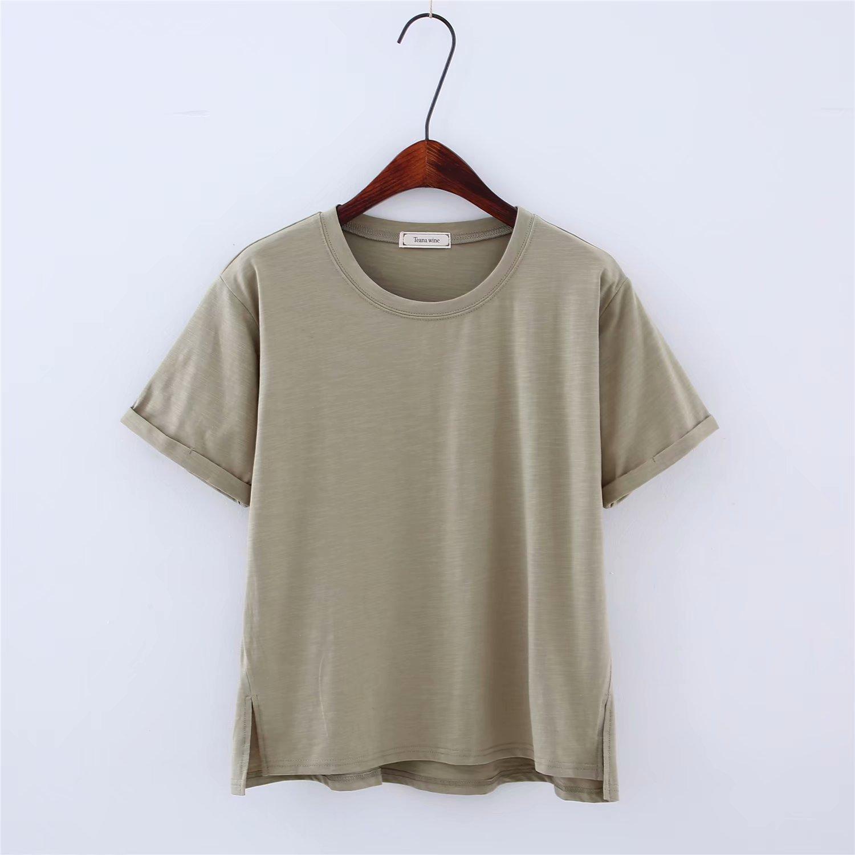 2018 New T-shirt Women Short Sleeve T-shirts O-Neck Tops Fashion Casual Cotton