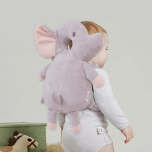 Baby Head Protection Anti-fall Walking Back Pillow Pad Air Mesh Plush Toddler Bag Safety Strap Infant Neck Care Drop Resistant