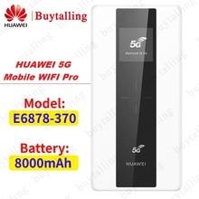 Huawei 5G mobilny WiFi Pro E6878 370 5G NSA/SA n41/n77/n78/n79 4G B1/3/5/7/8/20/B28/B32/B34/B38/39/40/41/42/43 8000Mah power Bank