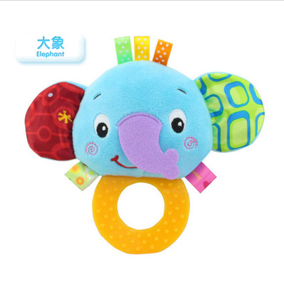 Happy Monkey Baby Toys Infant Plush Early Education Toys Custom Tooth Gel Rattle Toy Rattle 2019 New Fashion