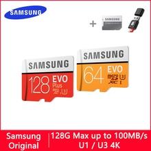 SAMSUNG EVO מיקרו SD 128 GB 32 GB 64 GB 256 GB 512 GB U1 U3 מיקרו SD כרטיס זיכרון כרטיס 32 64 128 GB פלאש כרטיס SD/TF MicroSD עבור טלפון