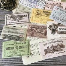 14 unids/set Vintage Retro boleto etiqueta DIY Scrapbooking álbum diario planificador pegatinas