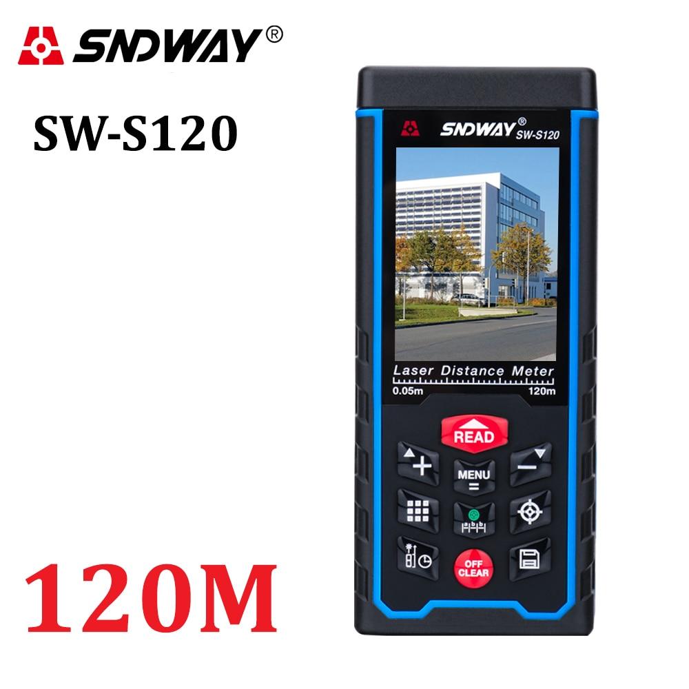 80M120M lézer távolságmérő 400ft kézi távolságmérő szalag Mérőeszköz távolságmérő W-TFT LCD fényképezőgép újratölthető elem