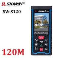 Medidor de distancia láser de 80 m120m, telémetro de mano de 400 pies, dispositivo de medición de cinta, telémetro W-TFT, cámara Lcd, batería recargable