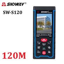 Medidor de distancia láser de 80 m120m telémetro manual de 400 pies, dispositivo de medición de cinta, telémetro W TFT, cámara Lcd, batería recargable