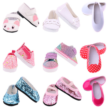 5Cm Doll Shoes Sequin Canvas Ballet Shoes For 14.5 Inch American Doll&BJD EXO Doll&32-34Cm Paola Reina Doll Russia Girl Toy DIY image